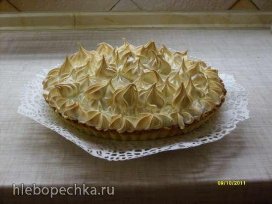 Тарт с лимонным кремом и меренгой