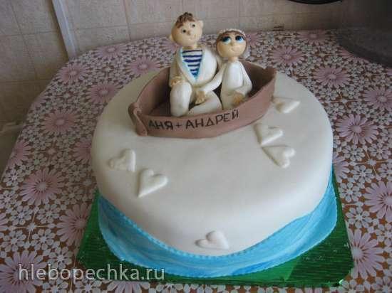 Корабли и море (торты)