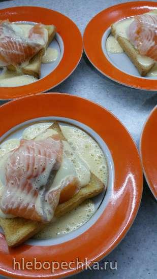 Яйцо Бенедикт с голландским соусом (рецепт И. И. Лазерсона)
