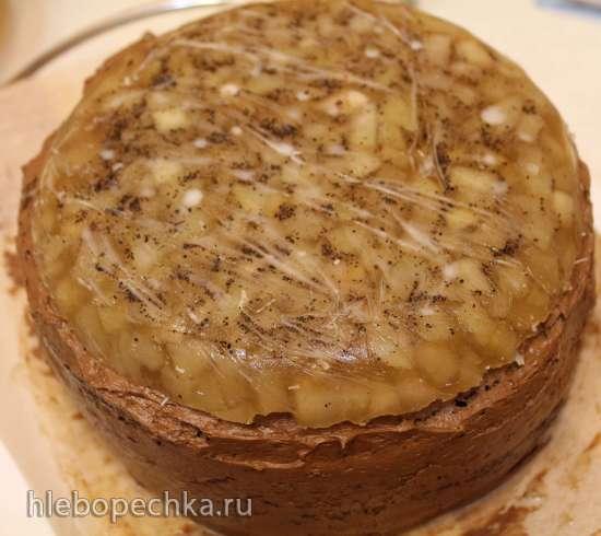 Торт кофейно-шоколадная груша с сыром Дор-блю «Новогоднее небо»