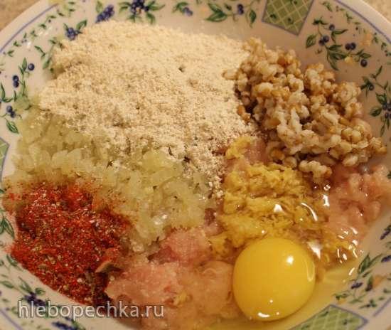 Куриные тефтели с полбой, карри и кокосовым молоком
