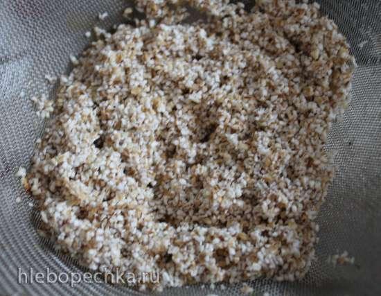 Каша из ячневой крупы с хурмой и гарам масалой на кокосовом молоке, томленая в духовке (постная)