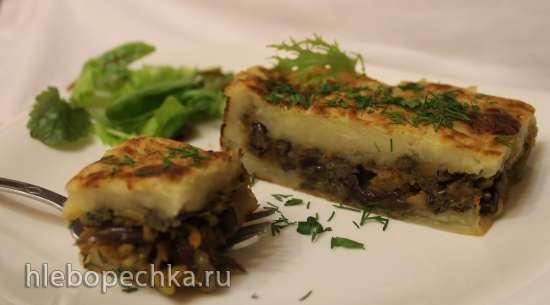 Картофельная запеканка с папоротником