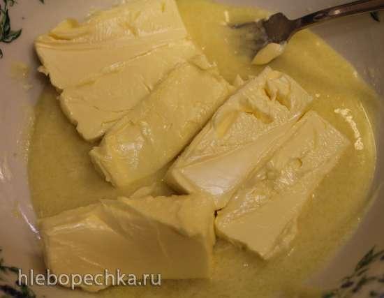 Пирог на линцерском тесте на вареных желтках с медово-яблочной начинкой и штройзелем