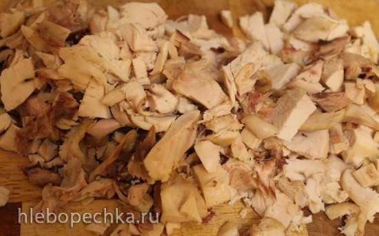 Порционные запеканки с курицей и топинамбуром в кабачке