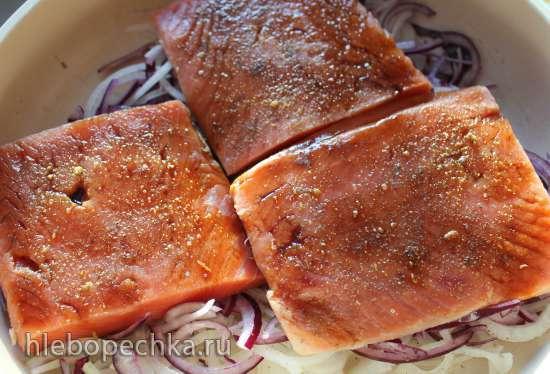 Рыбный стейк «Вулкан»