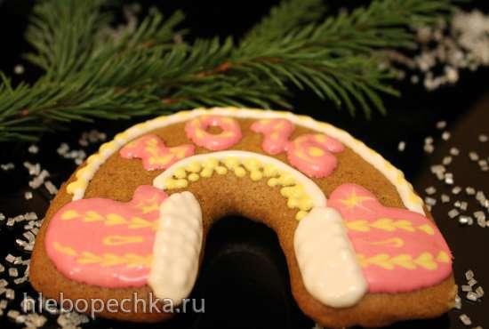 Постные рождественские пряники с долгим выстаиванием