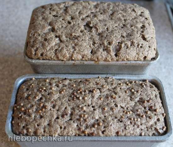 Ржано-пшенично-кукурузный хлеб на Жидких Дрожжах