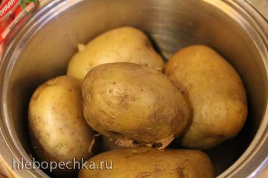 Запеченный картофель с рыбными фрикадельками