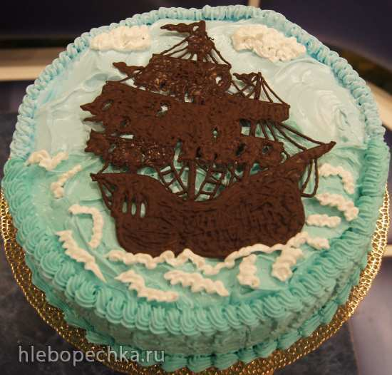 Торты, оформленные шоколадом