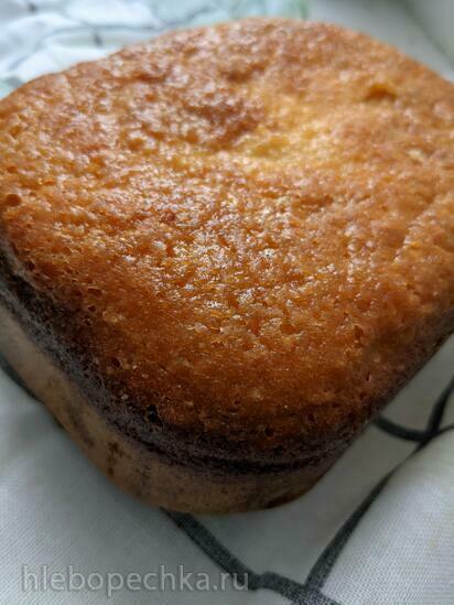 Сливочный кекс методом Bignè с йогуртом и цитрусовыми