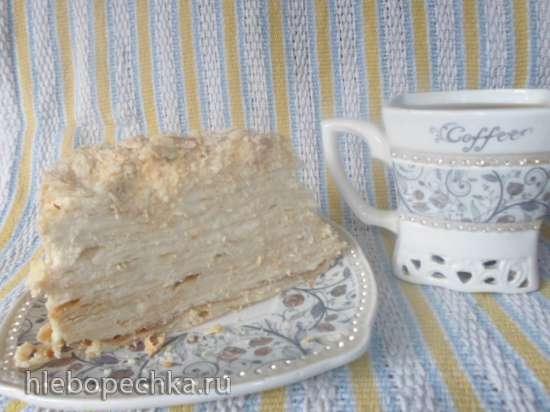 Торт Наполеон с пломбиром