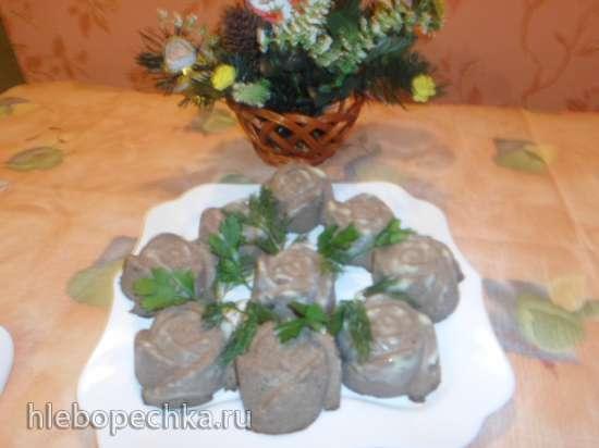 Паштет из куриной печени (рецепт от Ольги Сумской с оригинальной подачей)