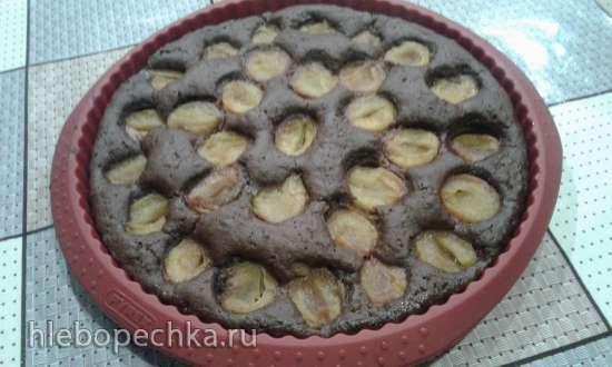 Шоколадный сливовый пирог в пиццамейкере Princess 11500198