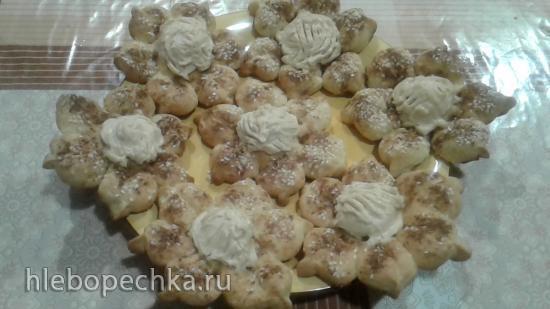 Творожные булочки Цветочки