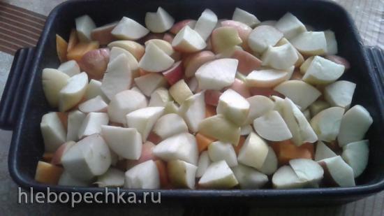 Витаминный десерт Золотая осень из тыквы и яблок