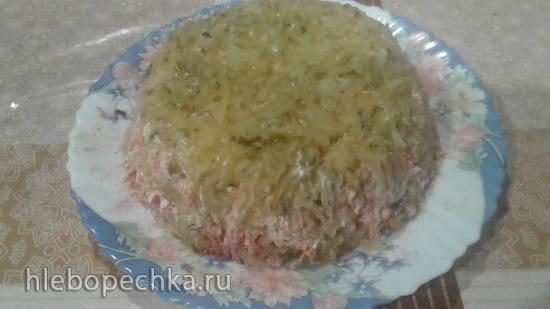 Салат со свеклой и куриной печенью
