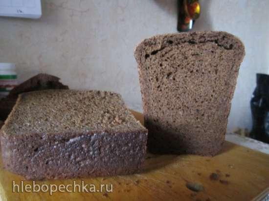 Ржано-пшеничный (60/40) медово-солодовый хлеб (духовка)