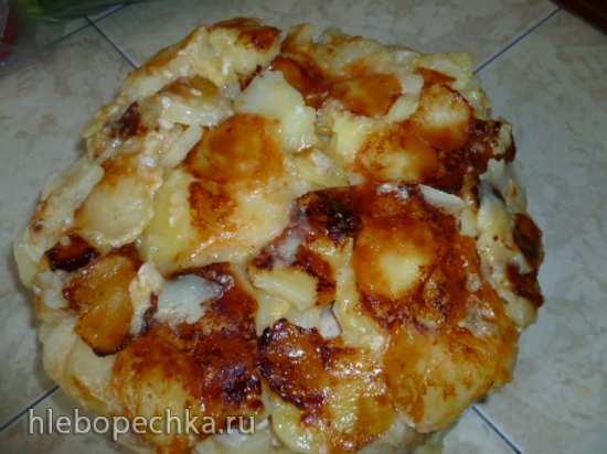 Картофельная запеканка с колбаской (Мультиварка Stadler Form)