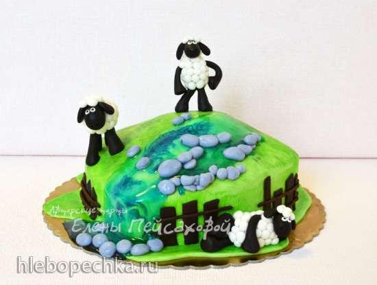 Торты, украшенные мастикой и марципаном (6)