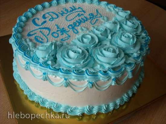 Торт на 50 лет мужчине из крема в домашних условиях 50