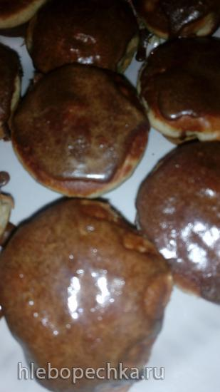 Яблочные пончики-кексы