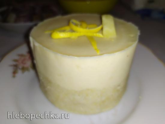 Пирожное лимонное без выпечки (постное, вегетарианское)