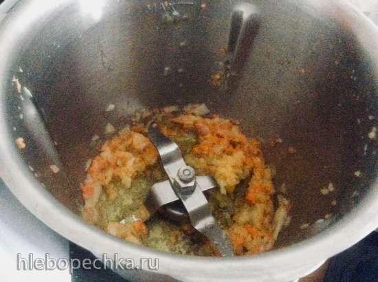 Сливочный суп с грибами и шпинатом в Monsieur Сuisine Plus