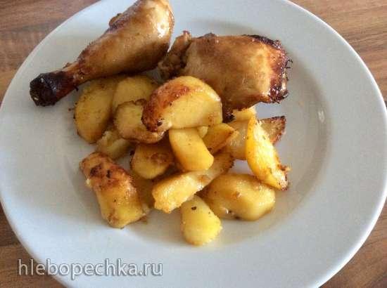 Куриные ножки с картофелем в мультикузине Delonghi