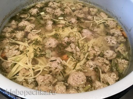 Суп с фрикадельками в Ninja® Foodi® 6.5-qt.