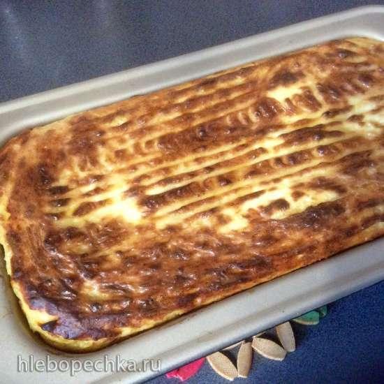 Запеканка из картофельного пюре и куриной печени