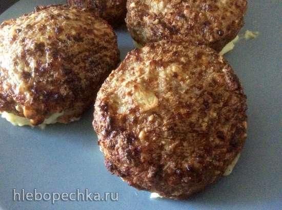 Мясные зразы  с картофельным пюре в Delonghi FH1394 (в аэрофритюрнице, аэрогриле и т. д)