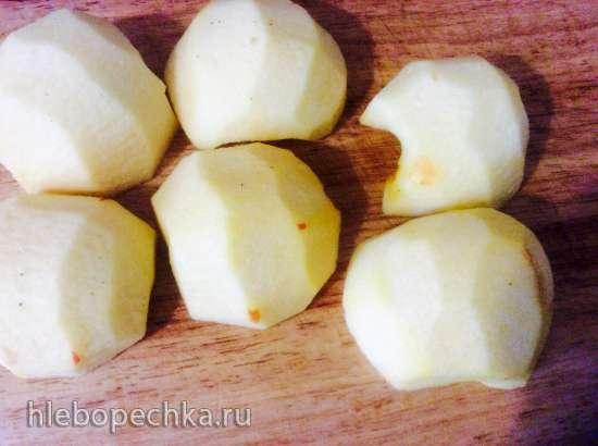 Яблочный чизкейк (кезекухен) с меренгой