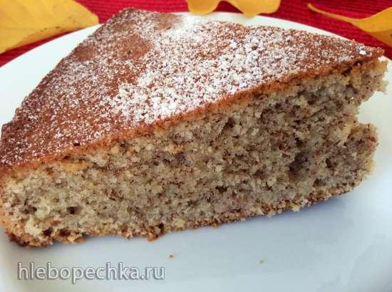 Осенний ореховый пирог  (Herbstkuchen mit Nuessen)
