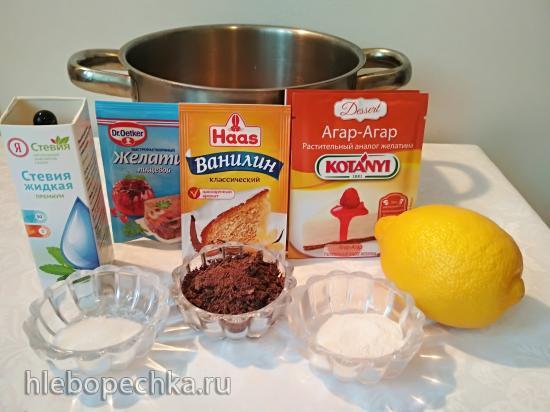 Мороженое лимонное (низкокалорийное, диабетическое, постное)