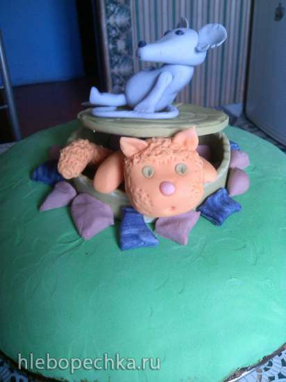 Торт «Африканская ромашка» шоколадный