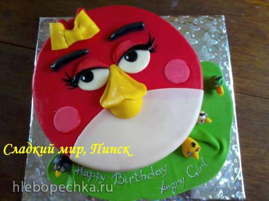 Торты по мотиву мультфильма Angry Birds