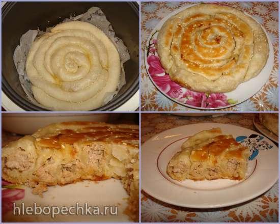 Кольцевой пирог в мультиварке Polaris 0508D floris