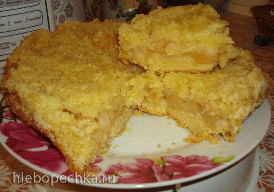 Яблочный пирог со штрейзелем в мультиварке Polaris 0508D floris
