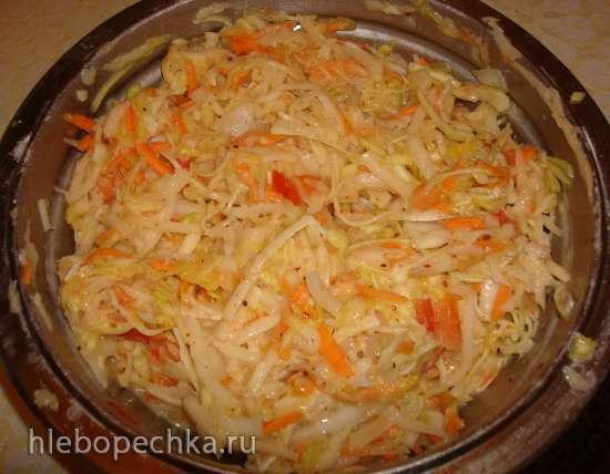 Овощная запеканка в мультиварке Polaris 0508D floris и  PMC 0507d kitchen