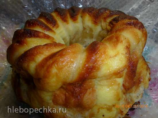 Пирог Ленивец из слоёного теста