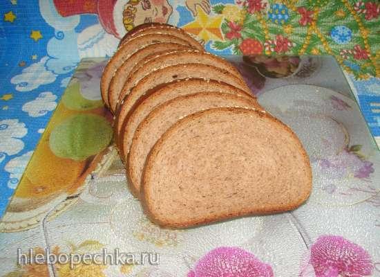 Пшеничный цельнозерновой хлеб с грецкими орехами (хлебопечка)