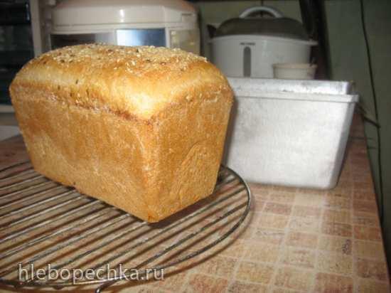 Белый хлеб быстрого приготовления (в духовке)