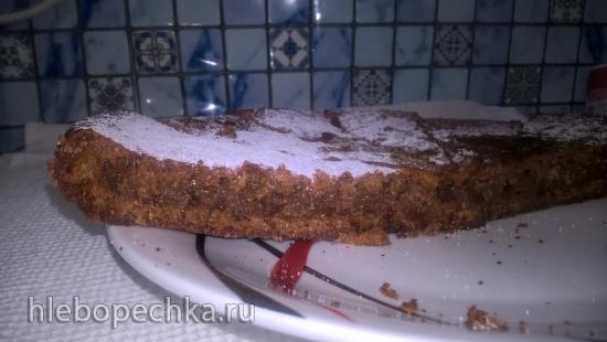 Пирог-коврижка из варенья на кефире и без яиц