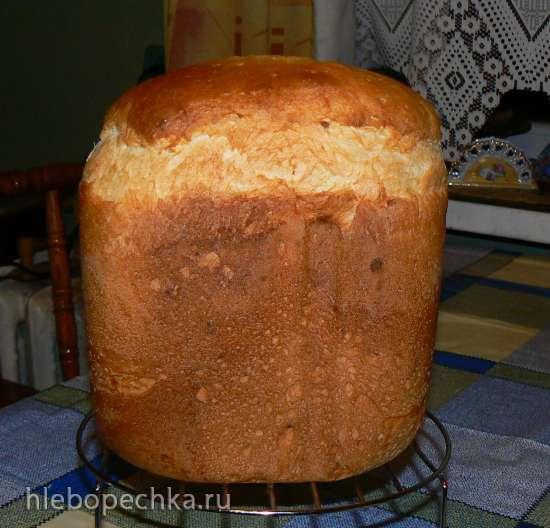 Panasoniс-255. Хлеб с манной крупой и чесноком