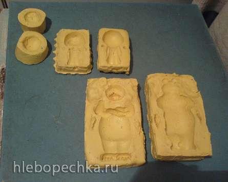 Молды Маши и Медведя из пищевого силикона в домашних условиях