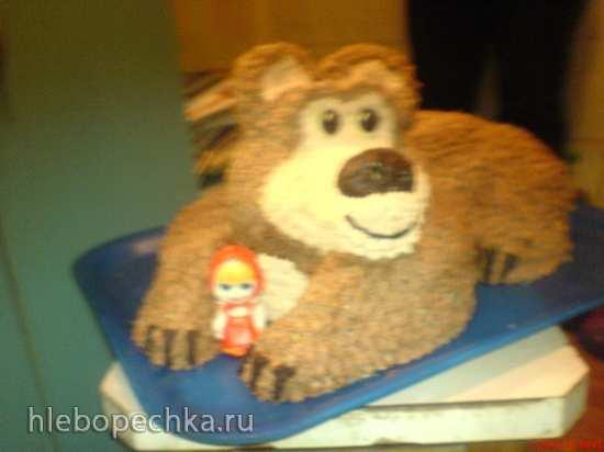 Торты по мотиву мультфильма Маша и Медведь