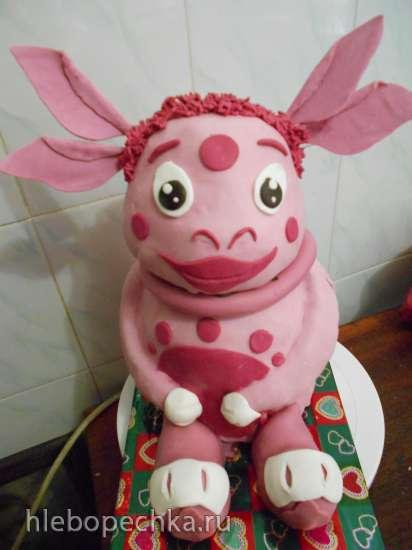 Торт Лунтик 3Д (мастер-класс)