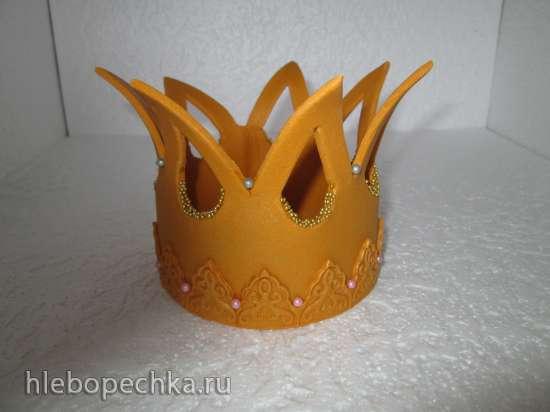 Корона из мастики (мастер-класс)