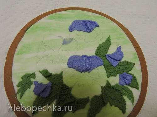 Флористические мотивы - объемная роспись айсингом